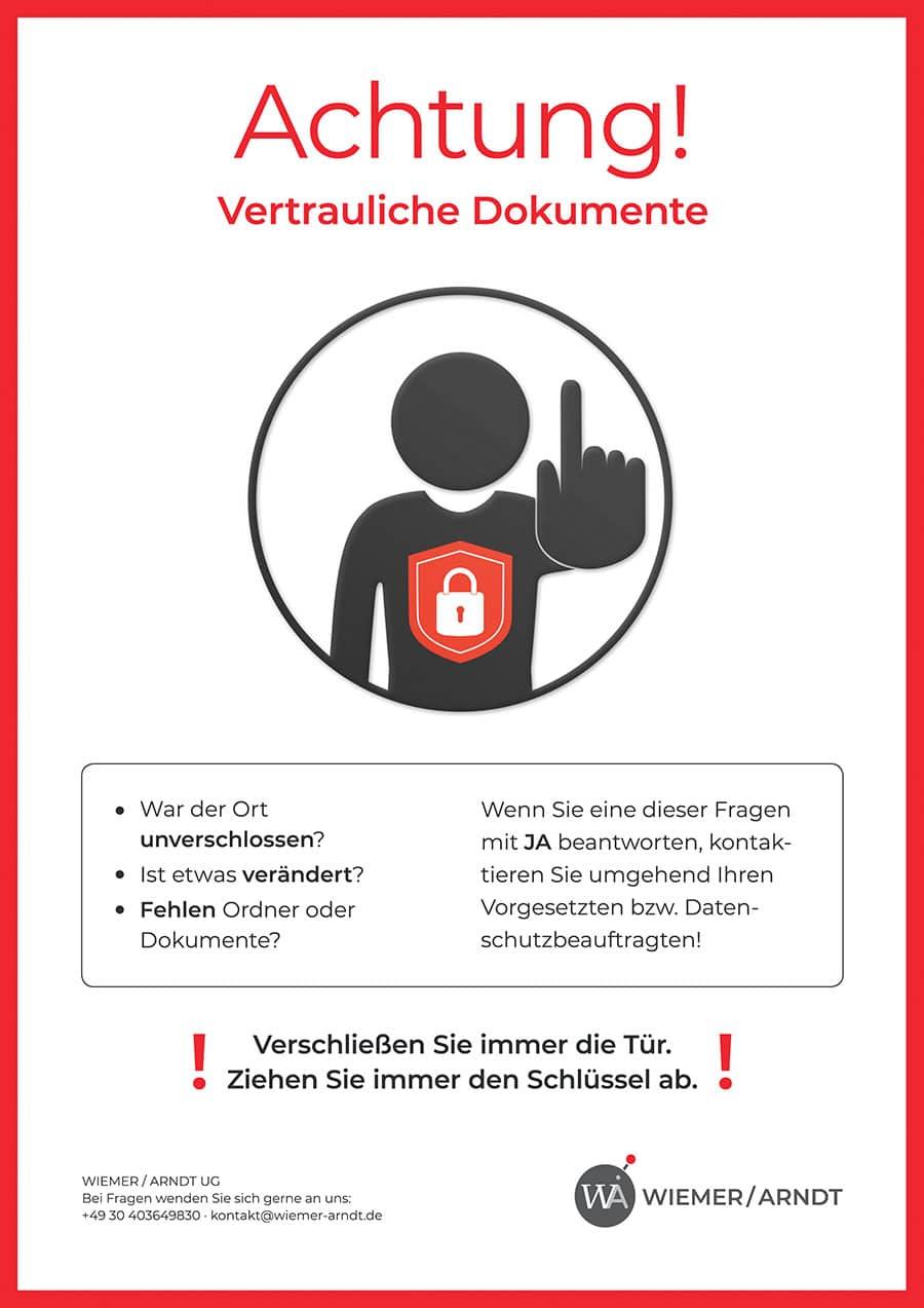Datenschutz zeichen | Achtung Sensible Daten