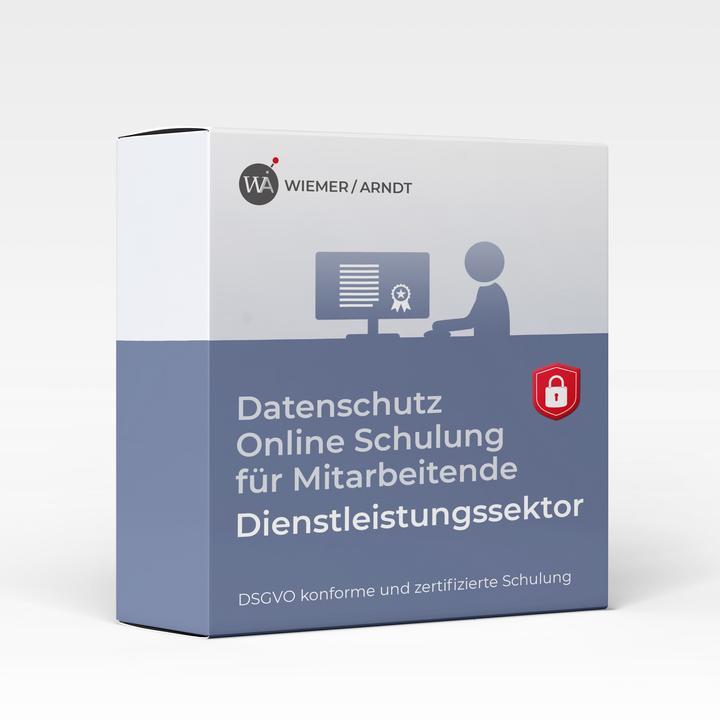 Datenschutz Online Schulung für Mitarbeiter im Dienstleistungssektor