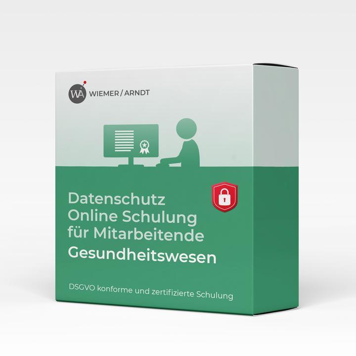 Datenschutz Online Schulung für Mitarbeiter im Gesundheitswesen