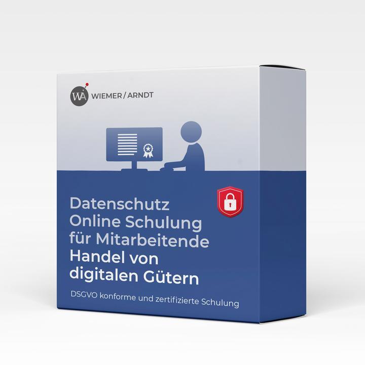 Datenschutz Online Schulung für Mitarbeiter im Handel von digitalen Gütern
