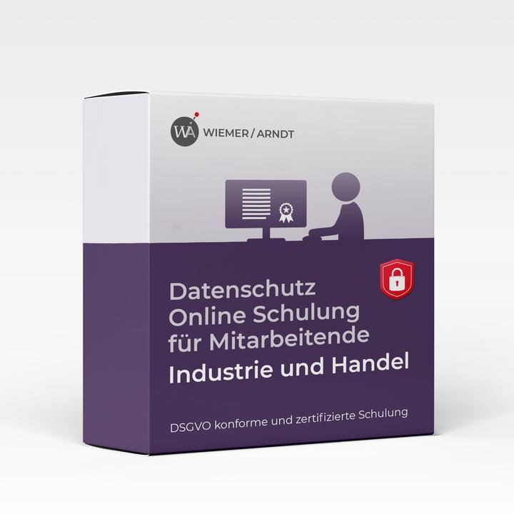Datenschutz Online Schulung für Mitarbeiter in Industrie und Handel (B2B)