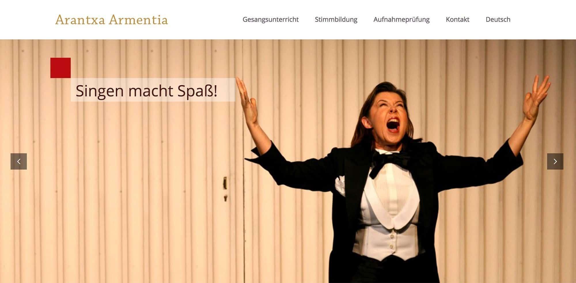 Arantxa Armentia - Gesangsunterricht