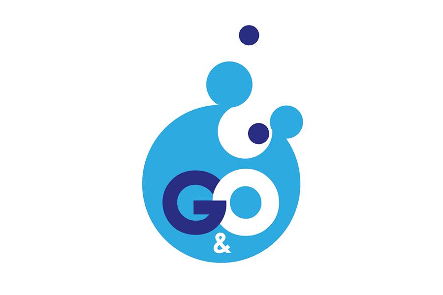 Logo G&O - Gebäudetechnik von A-Quadrat-Konzept