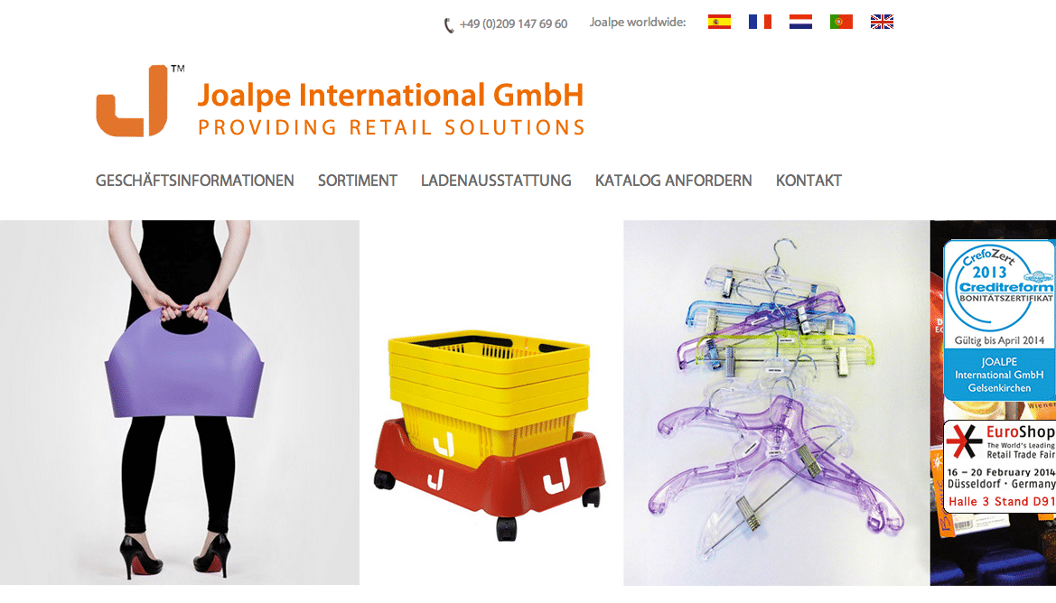 official homepage of Joalpe International GmbH