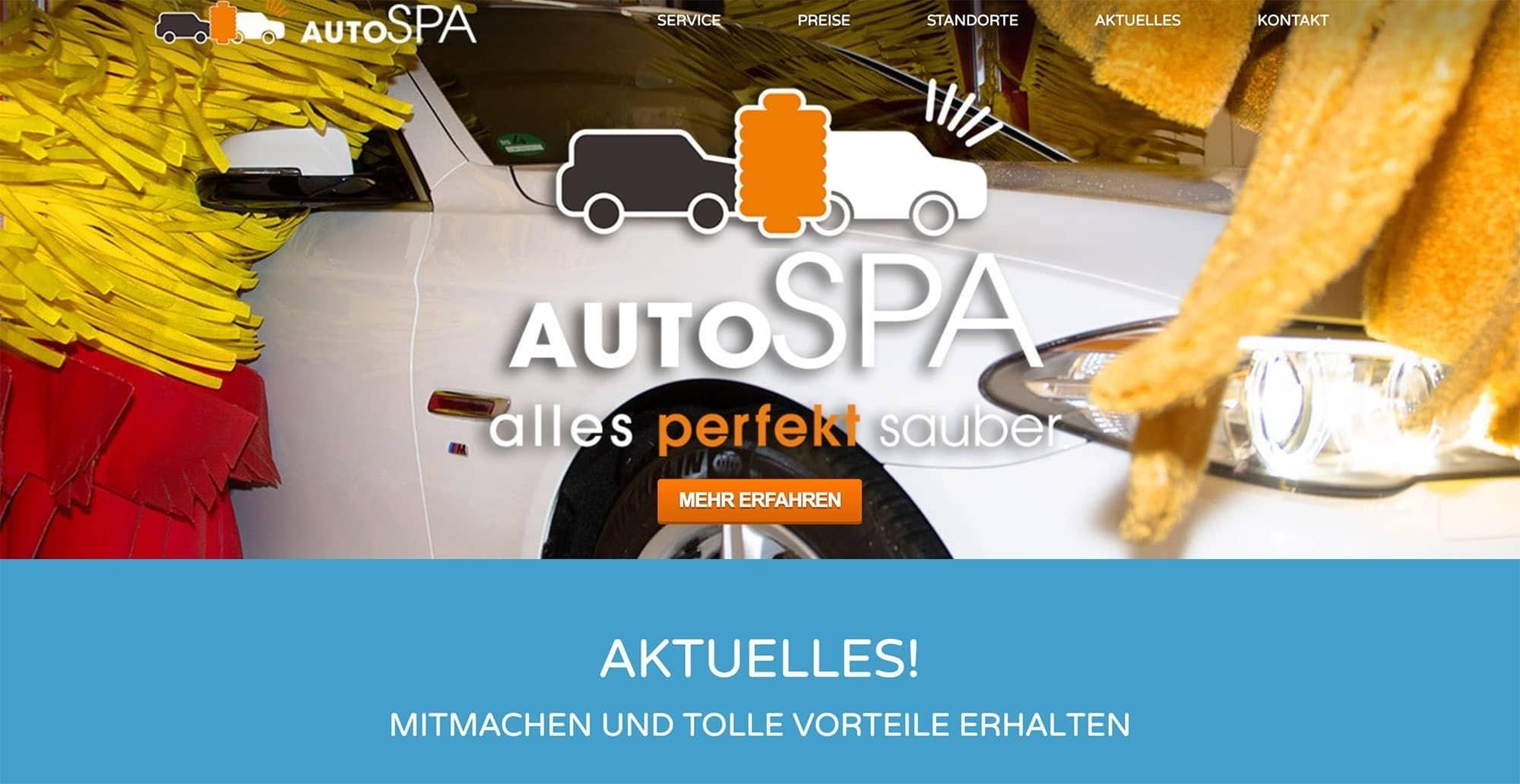 mein autoSPA - alles perfekt sauber - Waschanlagen in Niedersachsen