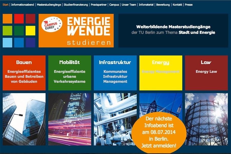 Website Energiewende studieren